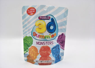 China Ziplock Soft Shinning Stand Up Pouch Packaging For Monster Candy 10 Colors supplier