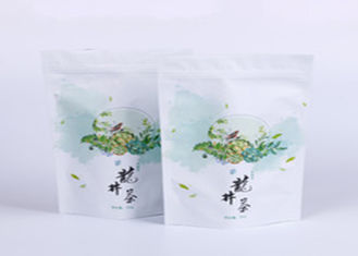 China Stand Up Tea Side Gusset Bag Aluminum Foil Full Color Custom Printing supplier