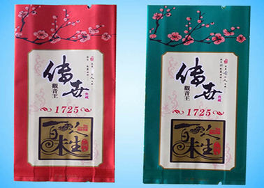 China Customized printing up to 10 colors Aluminum Foil side gusset tea Packaging Pouch Bags supplier