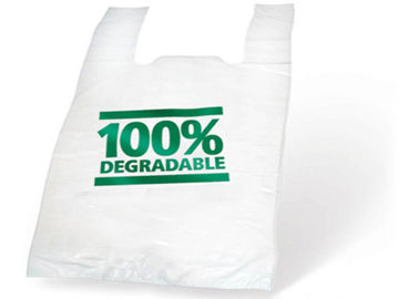 China T Shirt Biodegradable Plastic Bags Custom Print Size LDPE / HDPE Opp Poly supplier
