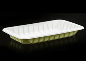 China Compostable Custom Biodegradable Trays , 100% Disposable Sugarcane Pulp Paper Plates supplier