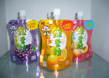 China Reusable Printed Stand Up Pouches 5mm - 33mm Diameter For Liquid Packing supplier