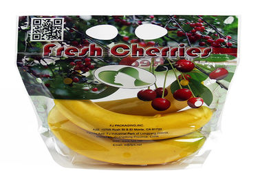 China Anti - Fog Fresh Fruit Bags Clear Plastic OPP/CPP Protection Packaging With Zipper supplier