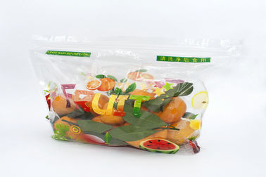 China Zip Lock Fresh Organic Fruit Plastic Bag Moisture Proof Non Toxin With Holes / Handle supplier
