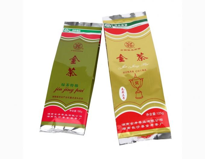Customized printing up to 10 colors Aluminum Foil side gusset tea Packaging Pouch Bags