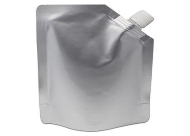 China Customized Shape and Printed Screw top Cap Reusable Aluminum Foil Stand Up Pouch With Spout distributor