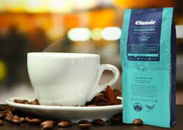 China PET Plastic Side Gusset Coffee Bags Custom Printed , Laminated Clear Stand Up Pouches distributor