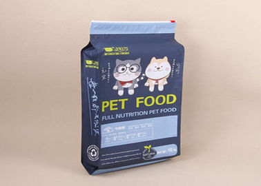 China Zip Lock Gusset Aluminium Foil Laminated Pouches Food Grade Custom Printed For Pet Cat distributor